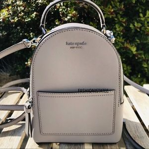 kate spade mini convertible backpack soft taupe